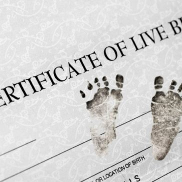 Birth Certificate Feet